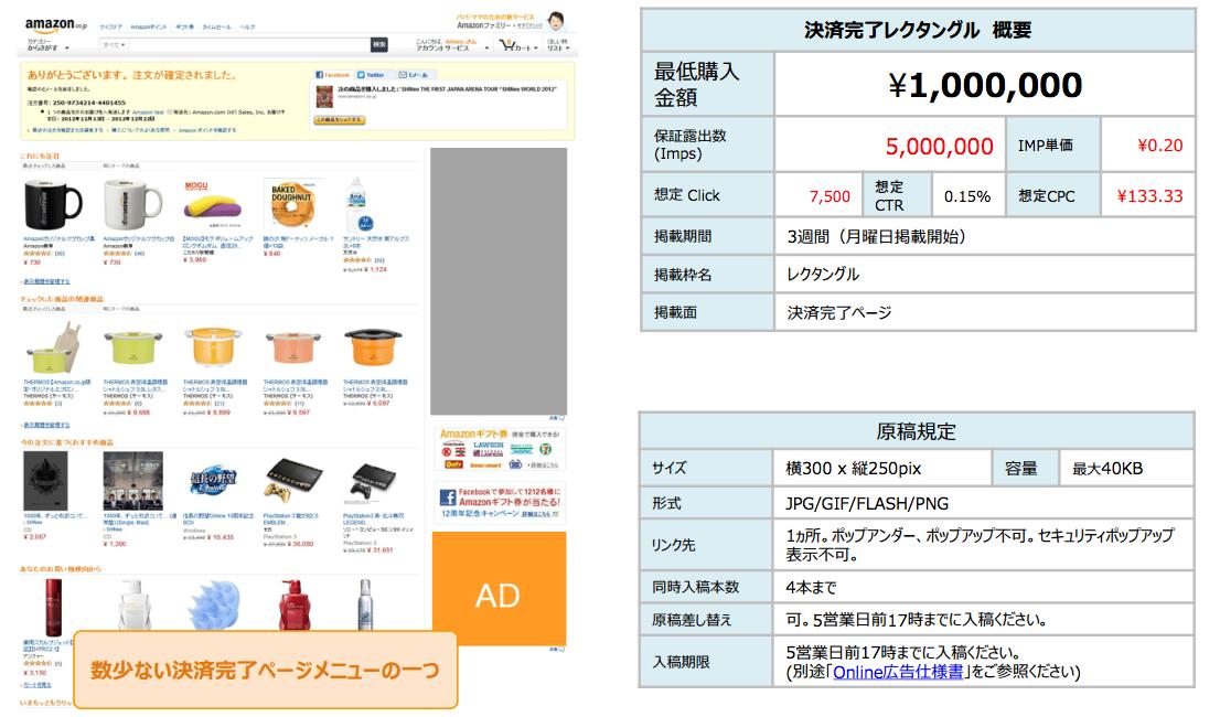 Amazon広告決済完了レクタンダル