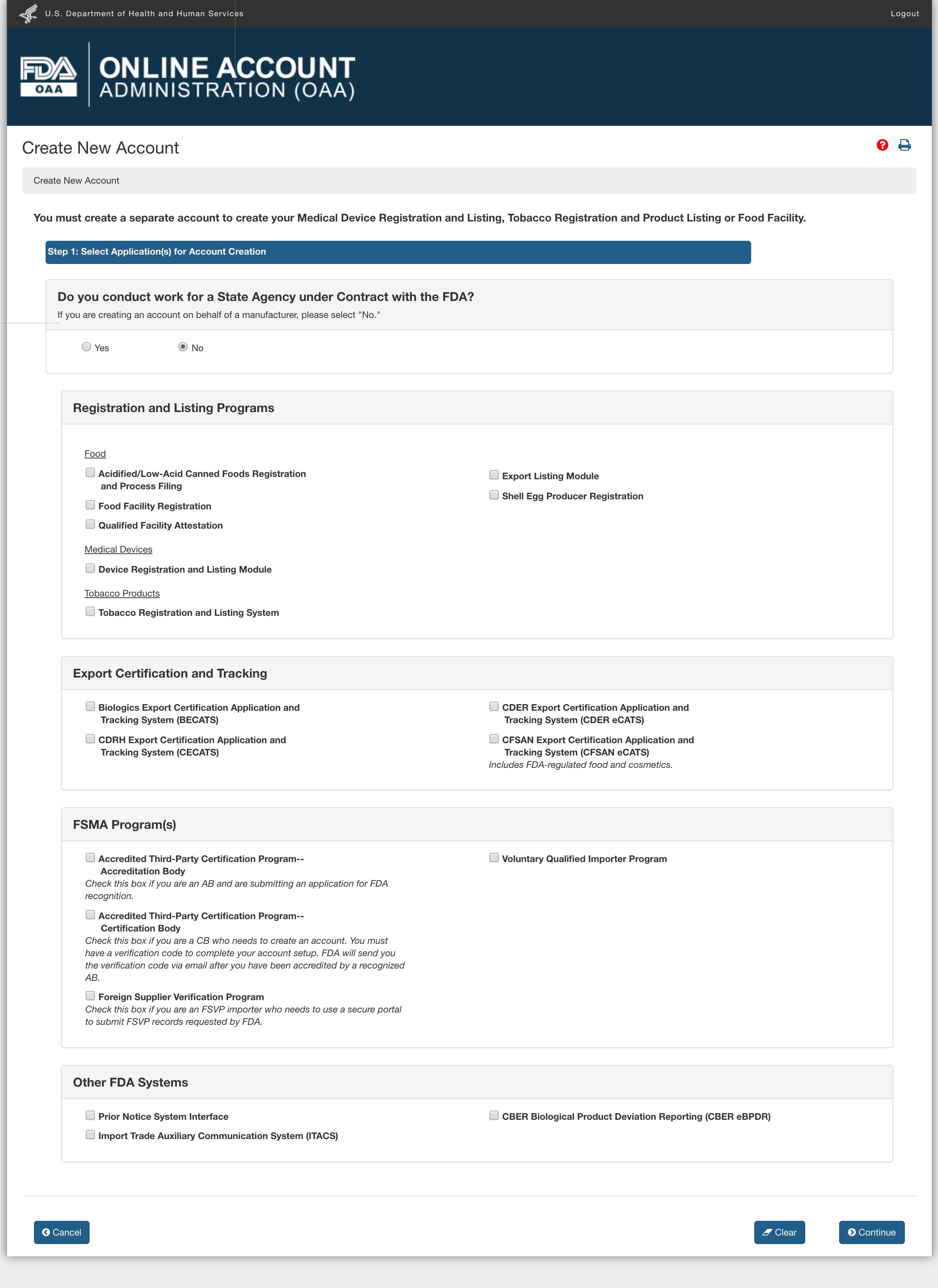 FDA登録